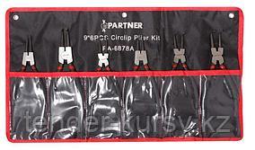 Partner Набор съемников стопорных колец, 6 предметов (L-220мм х 2шт, L-180мм х 4шт), на полотне Partner