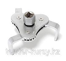 "Forsage Съемник масляного  фильтра ""краб"" с ""плоским захватом"" 3/8""+адаптер 3/8""Мх1/2F (диаметр 40-102мм), в"