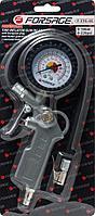 Forsage Пистолет для подкачки шин с аналоговым манометром и шлангом (0-16Bar), в блистере Forsage F-STG-05