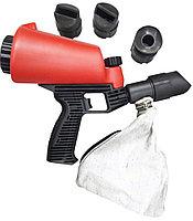 ROCKFORCE Пескоструйный пистолет со встроенной емкостью для песка 1л и резиновыми наконечниками (4шт)