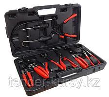 Forsage Набор щипцов для снятия и установки хомутов и шлангов 9 предметов, в кейсе Forsage F-909G3 17779