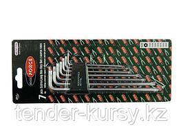 ROCKFORCE Набор ключей TORX Г-образных экстра длинных, 7 предметов (Т10Н,Т15Н,Т20Н,Т25Н,Т27Н,Т30Н,Т40Н-с