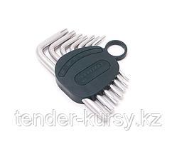 ROCKFORCE Набор ключей TORX Г-образных, 7 предметов (Т10,Т15,Т20,Т25,Т27,Т30,Т40) в пластиковом держателе