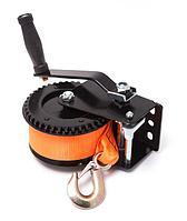 Partner Лебедка ручная ,барабанного типа (нейлоновый ремень), 450кг(50мм*10м) Partner PA-6779 535