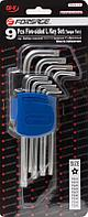 Forsage Набор ключей Г-образных TORX 5-лучевых, 9 предметов(TS10, TS15, TS20, TS25, TS27, TS30, TS40, TS45,