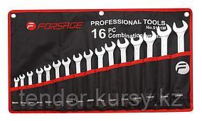 Forsage Набор ключей комбинированных 16 предметов (6-19, 22, 24мм)на полотне Forsage F-5161M 10354