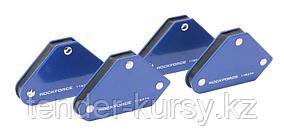 ROCKFORCE Набор магнитных держателей для сварочных работ 4 предмета(4,5 кг.45гр.90гр.135гр.) в блистере