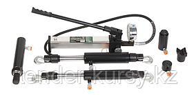 ROCKFORCE Набор гидравлического оборудования:насос с монометром10т;цилиндры:4,5,10т прямого и 5,10т обратного
