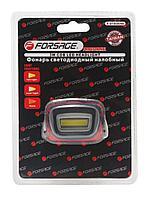 Forsage Фонарь светодиодный налобный в комплекте с батарейками (3 световых режима, CUB, 3xAAA), в блистере