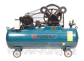 Forsage Компрессор 200л  2-х поршневой с  ременным приводом  (5,5кВт, ресивер 200л, 600л/м, 380В) Forsage