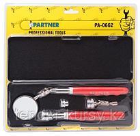 Partner Набор для осмотра узлов и агрегатов (зеркало+ магнит телескопические) 4 предмета Partner PA-0662 4564