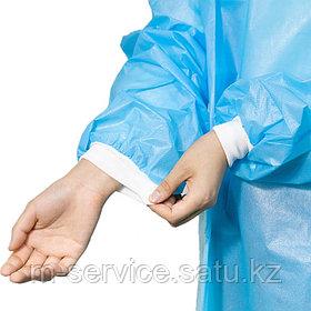 Халат хирургический, одноразовый 40 гр/мкм, с манжетами