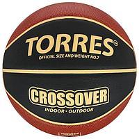 Мяч баскетбольный TORRES Crossover, B32097, размер 7