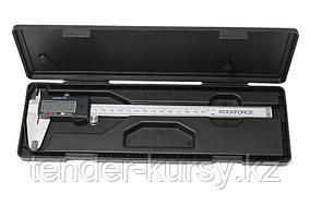 ROCKFORCE Штангенциркуль электронный (0-250мм, 0.01мм; внутр. Ø, наруж. Ø + глубиномер), в пластиковом футляре