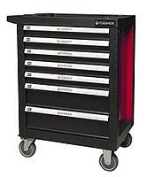 Forsage Тележка инструментальная 7-и полочная(красная) с пластиковой защитой корпуса+2боковые