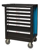 Forsage Тележка инструментальная 7-и полочная(синяя) с пластиковой защитой корпуса+2боковые