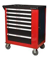 Forsage Тележка инструментальная 7-ми полочная (красная), с дополнительной боковой секцией, 600х840х980