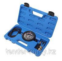 ROCKFORCE Тестер  давления топлива и вакуума в наборе с резьбовыми адаптерами  (9 предметов) в кейсе ROCKFORCE