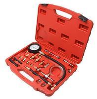 Forsage Тестер давления топлива в комплекте с резьбовыми адаптерами переходниками 20 предметов(0-10Bar), в