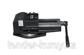 """ROCKFORCE Тиски прецизионные стальные поворотные со шкалой измерения угла поворота  и наковальней """"Profi"""""""