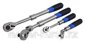 """Forsage Трещотка  реверсивная шарнирная телескопическая с резиновой ручкой 1/2"""" L340-430мм(72зуб.) Forsage"""