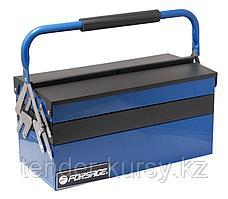Forsage Ящик инструментальный складной на 5 отделений прорезиненной накладкой на ручку (420х210х210мм,