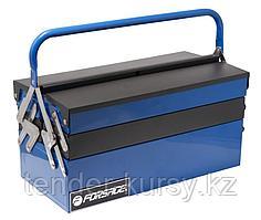 Forsage Ящик инструментальный складной, 5 отделений (415х235х200мм-габариты, 410х95х45мм-4полки,