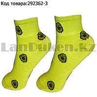 Носки женские хлопковые Авокадо 36-41 размер CHMD светло-зеленый