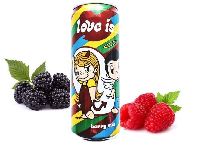 LOVE is Газ напиток berry mix ягодный микс  330ml /12шт-упак/