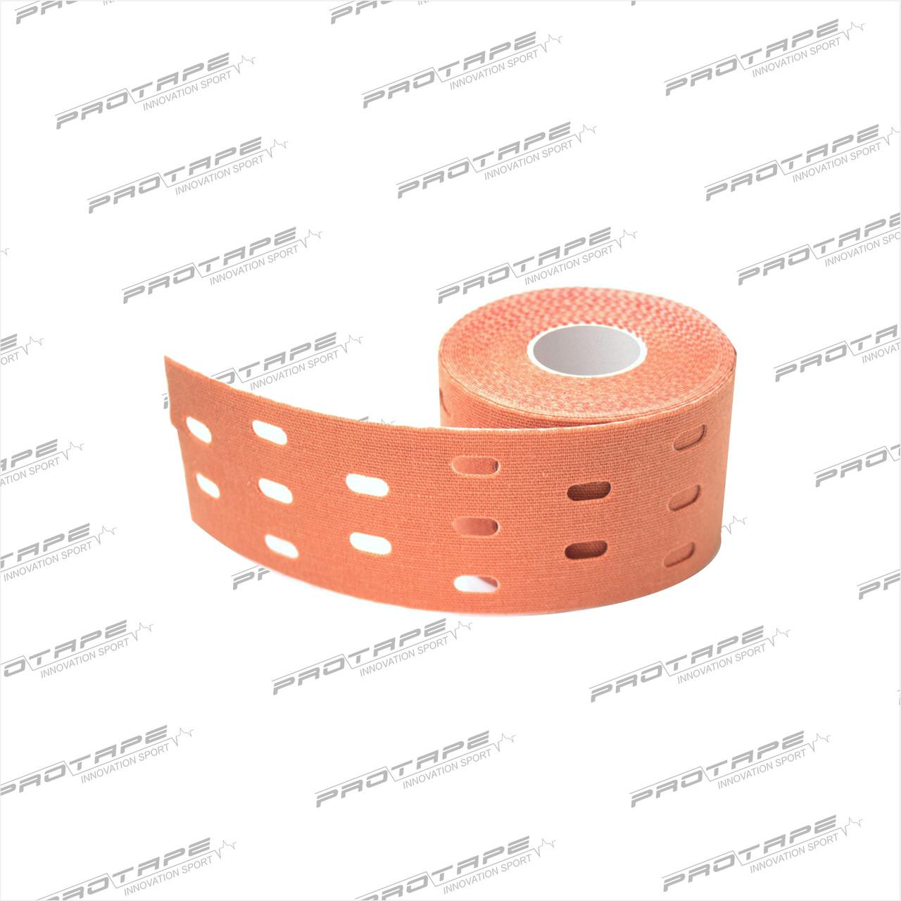 Кинезиологическая лента GSP CARE Kinesiology Tape 5см х 5м бежевый перфорированный