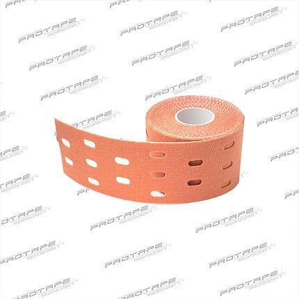 Кинезиологическая лента GSP CARE Kinesiology Tape 5см х 5м бежевый перфорированный, фото 2