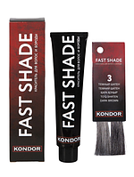 KONDOR Краситель FAST SHADE для волос и бороды №3 (тёмный шатен), 60 мл