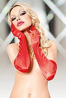 Перчатки длинные SoftLine Collection, красный, S/L