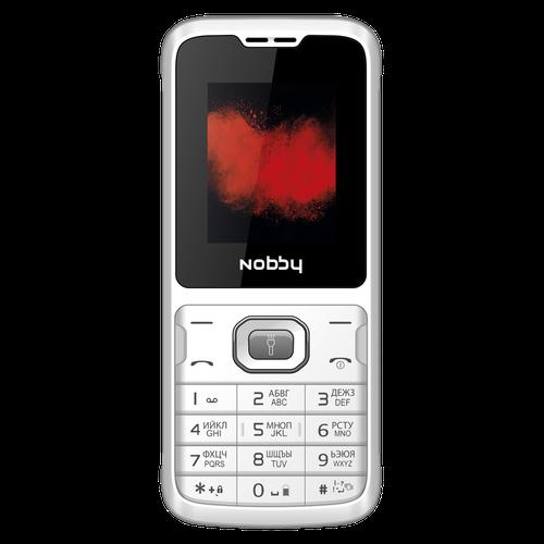 Мобильный телефон Nobby 110 бело-серый