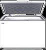 МОРОЗИЛЬНЫЙ ЛАРЬ МЛК-400 корус серый верх серый