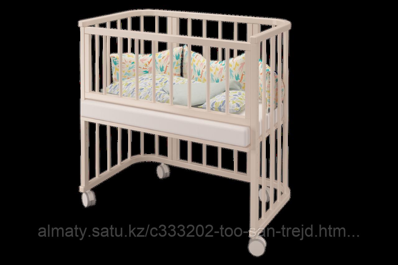 Детская кровать Эстель ( приставная) ,цвет белая