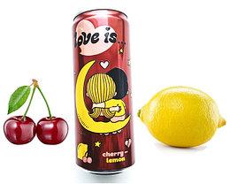 LOVE is Газ напиток Вишня - Лимон (Бордовый) 330ml /12шт-упак/