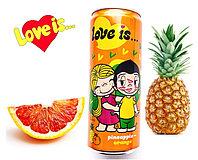 LOVE is Газ напиток Ананас - Апельсин (Оранжевый) 330ml /12шт-упак/