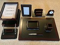 Настольный набор для руководителя VIP, 9 предметов, фото 1