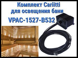 Комплект освещения русской бани Cariitti VPAC-1527-B532 для установки в потолке (Стекловолокно, 4+1 точка)