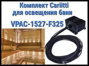 Комплект освещения русской бани Cariitti VPAC-1527-F325 для установки в потолке (Стекловолокно, 7 точек)