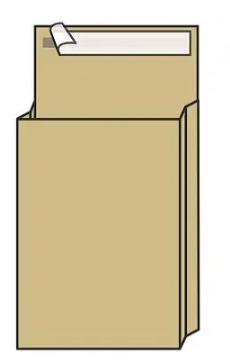 Конверт С4 UltraPac (229х324х40 мм) пакет, с расширением, коричневый