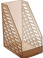 Лоток вертикальный STAMM XXL, ширина 16 см, прозрачный коричневый