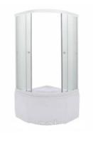 ERLIT душевая кабина ER5709TP-C33 900*900*2150 высокий поддон, светлое стекло
