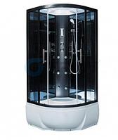 ERLIT душевая кабина ER5709P-C33 900*900*2150 низкий поддон, светлое стекло