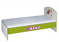 Кровать Elly 180х90 белый-зеленый (Polini, Россия)