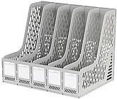 Лоток вертикальный DELI, 5 отделений, серый