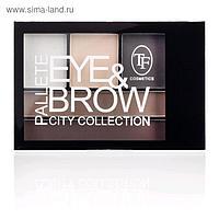 Тени для коррекции бровей и глаз палетка TF Eye & Brow Palette City, тон 01C