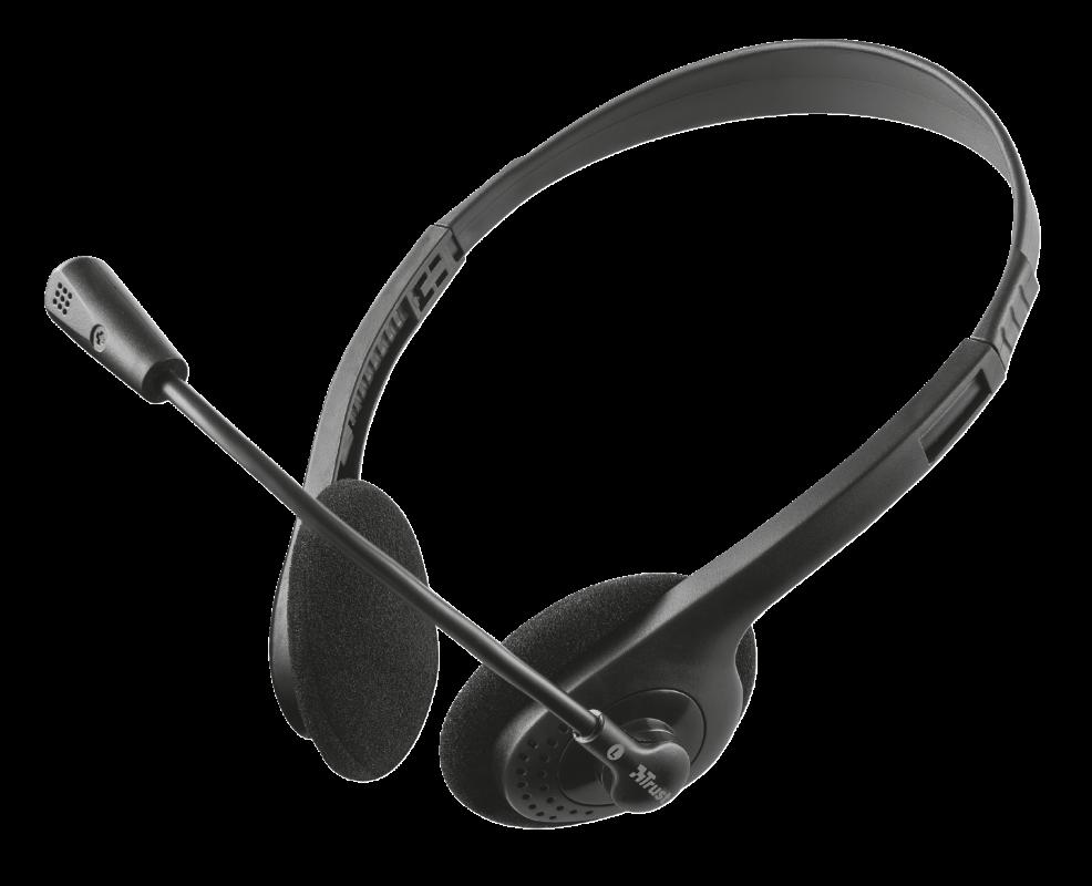 TRUST Наушники-гарнитура с микрофоном проводная Primo Chat черный