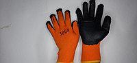 Плотные прорезиненные перчатки оранжевые 300# (не оригинал)